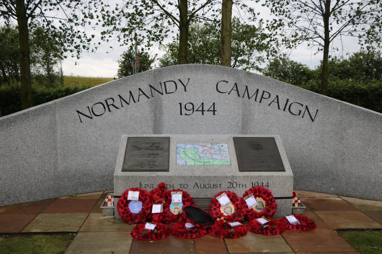 The Normandy Campaign Memorial at the National Memorial Arboretum