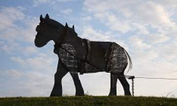 The 'Oss, made of steel plate and 'towing' Fosseway Queen