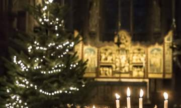 Lichfield Cathedral Tree and Candles - Copyright Chris Lockwood